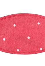 TLC red polka dot cotton face mask