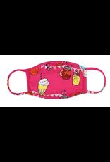TLC kids hot pink treats cotton face mask