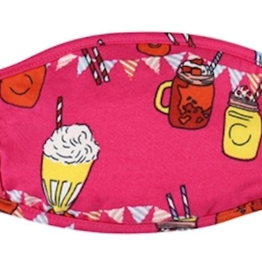 TLC kids hot pink treats cotton face mask