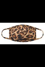 TLC kids leopard print cotton face mask