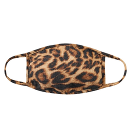 TLC kids leopard print cotton face mask