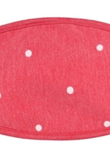 TLC kids red polka dot cotton face mask
