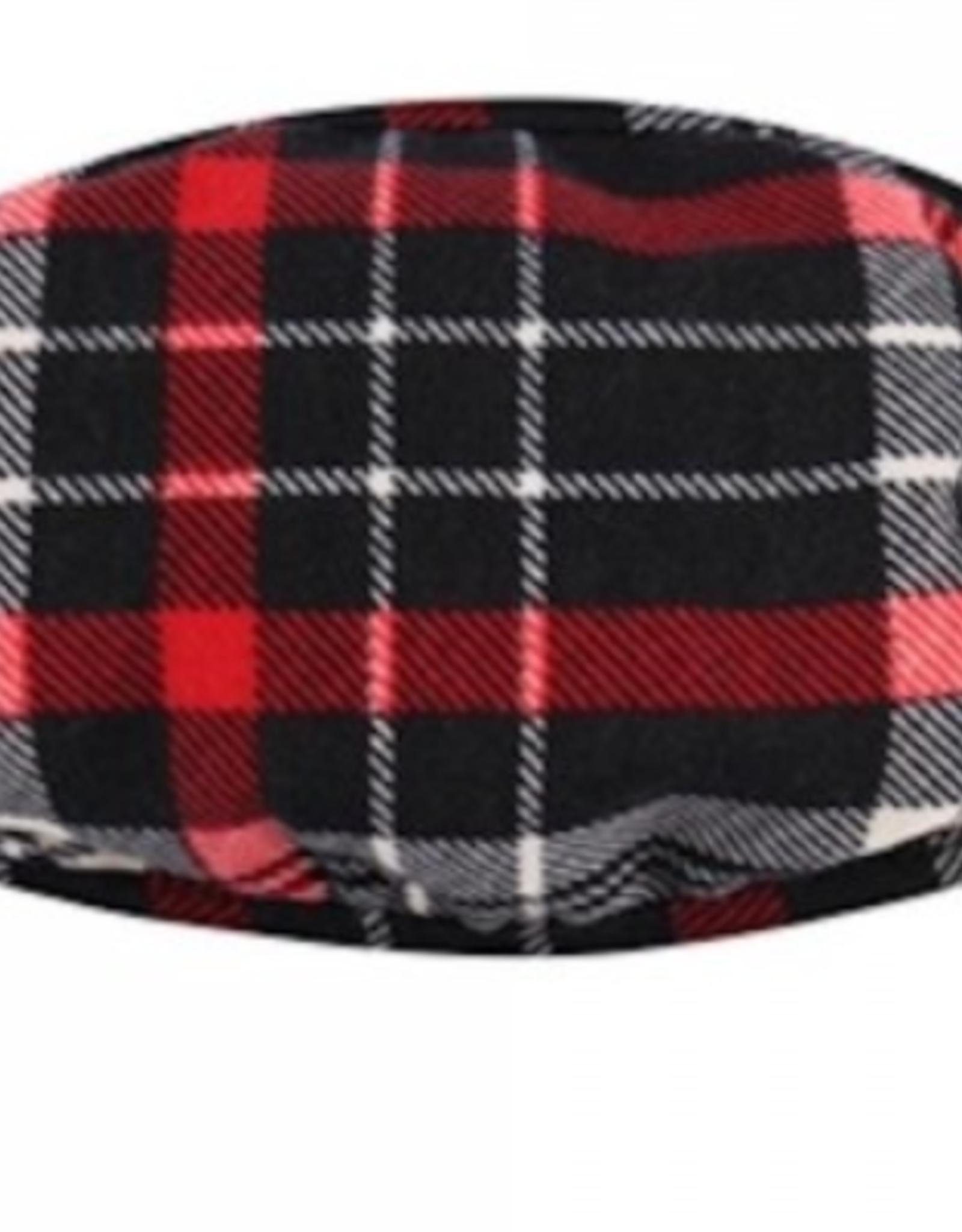 TLC red black plaid cotton Face Mask
