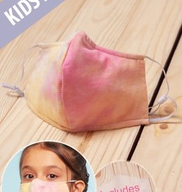 TLC kids tie dye pink/yellow face mask