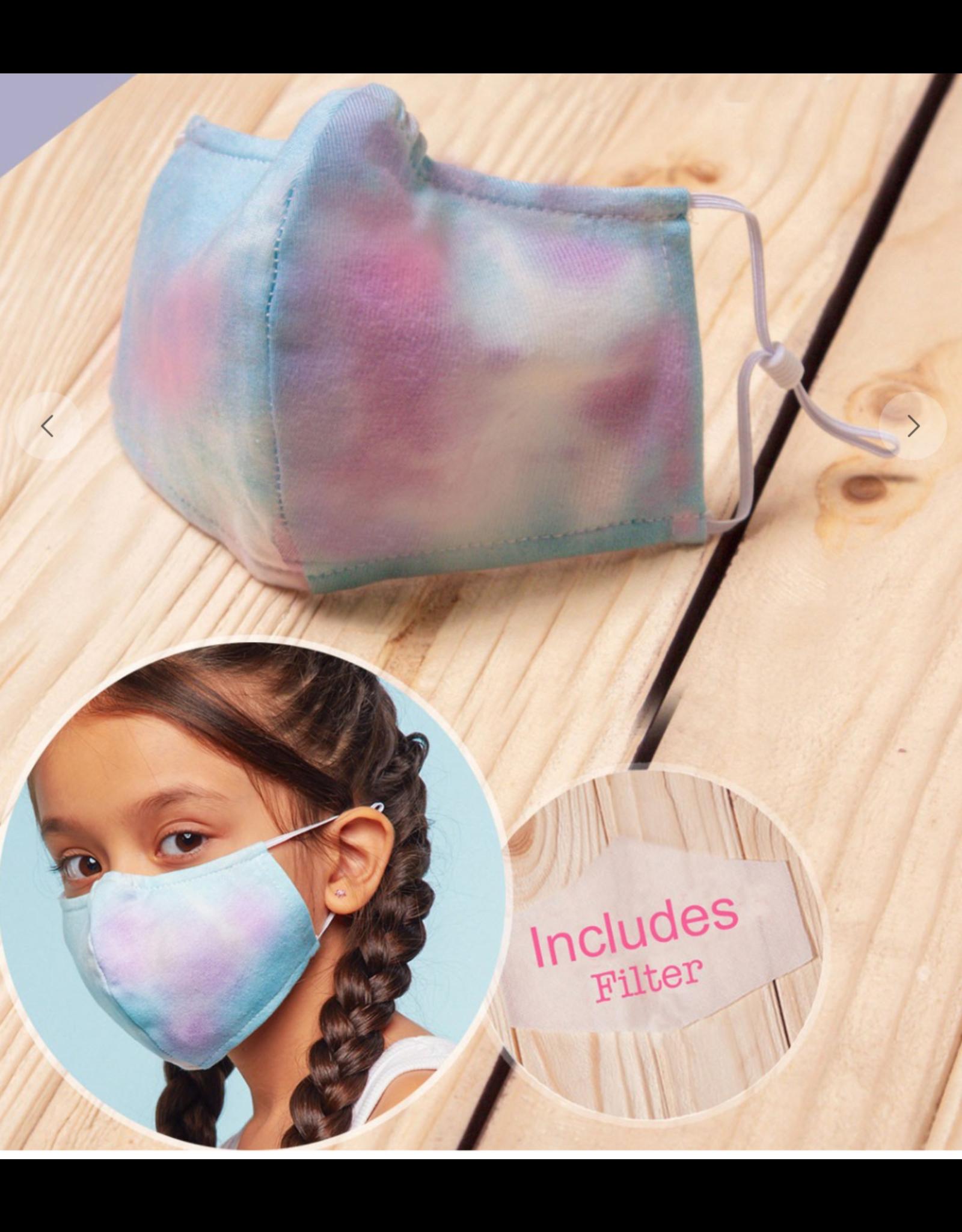 TLC kids tie dye blue/purple face mask