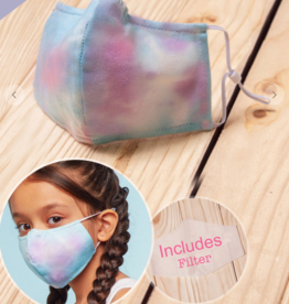 TLC kids tie dye blue/purple face mask