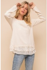 TLC Lace Chiffon Sweater