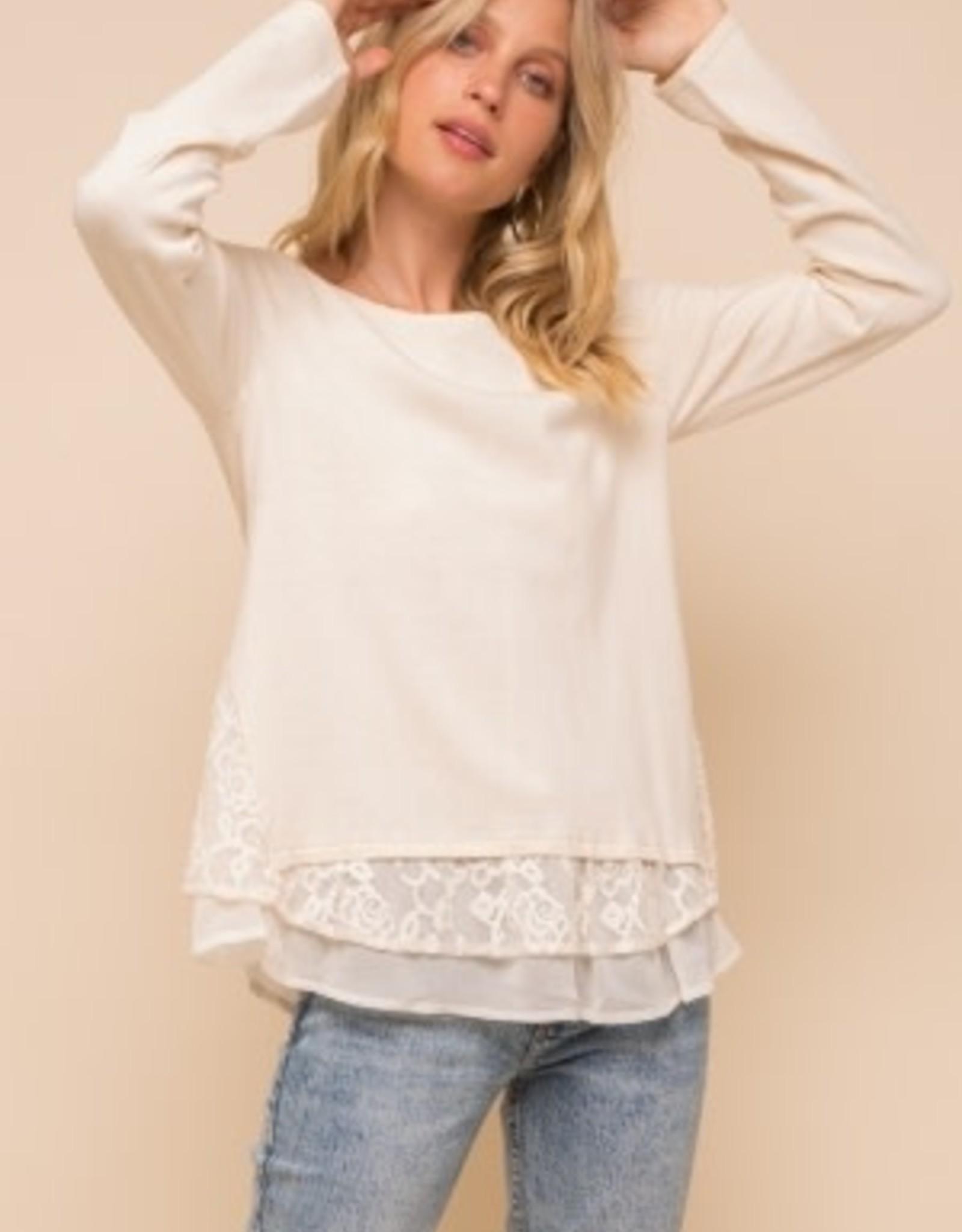 TLC Lace Chiffon Sweater