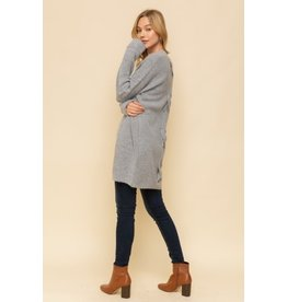TLC Back Cross Tie Long Cardigan