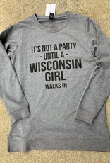 Wisconsin Party Girl Crew Neck Sweatshirt