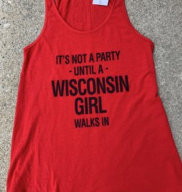 Wisconsin Party Girl Flowy Tank