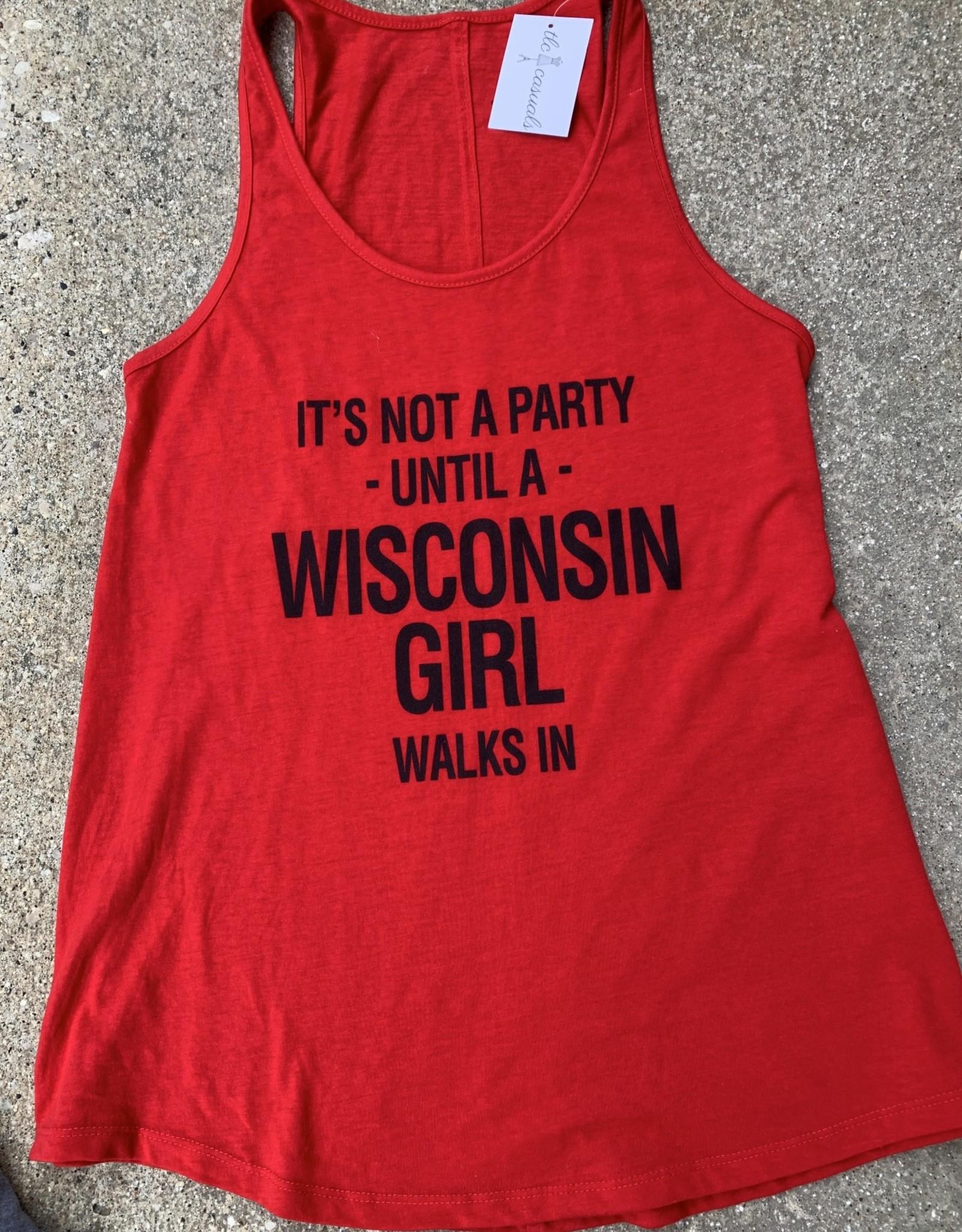 Wisconsin Party Girl Flowy Tank
