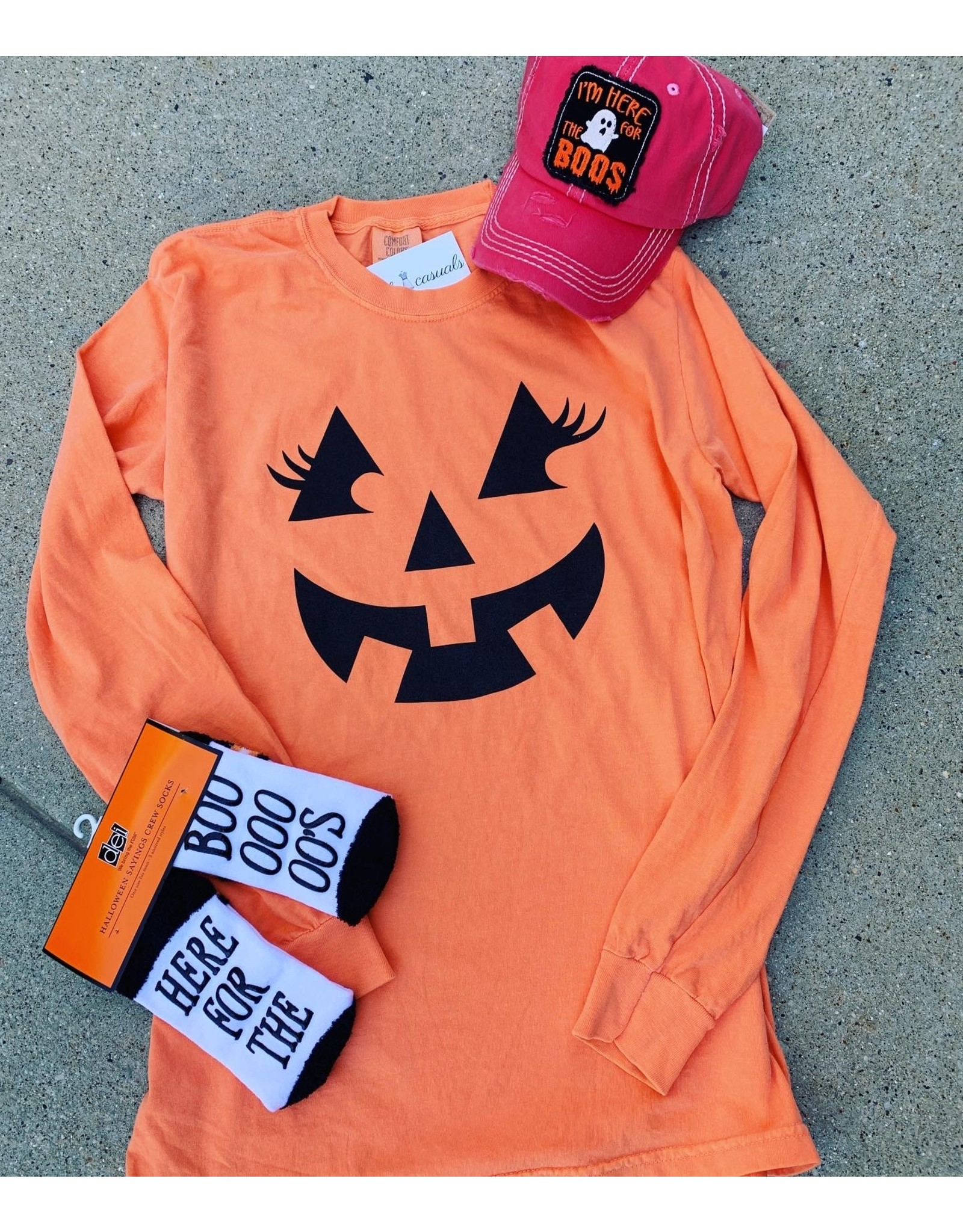 Jack O Lantern Orange Comfy Long Sleeve