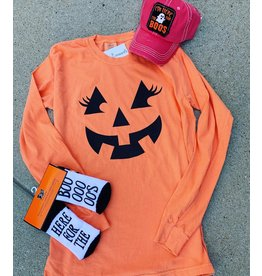 Jack O Lantern Orange Comfy Long Sleeve