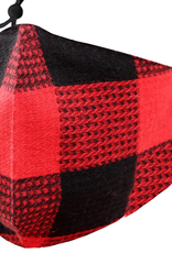 TLC adjustable red buffalo  plaid Face Mask