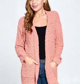 TLC Rust Popcorn Cardigan