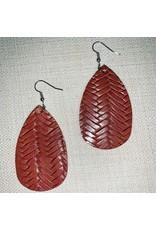 TLC Faux Leather Woven Earring