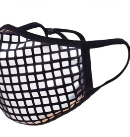 TLC Silver Disco Ball Face Mask with Adjustable Strap
