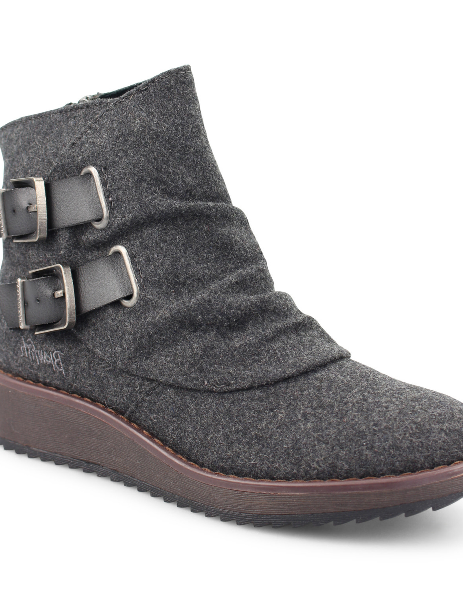TLC Blowfish Cocoa Bootie in Grey 2Tone Flannel/Charcoal