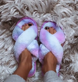 TLC Tie Dye Fur slippers — more colors!