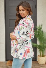 TLC Daniela Comic Rouched Sleeve Blazer