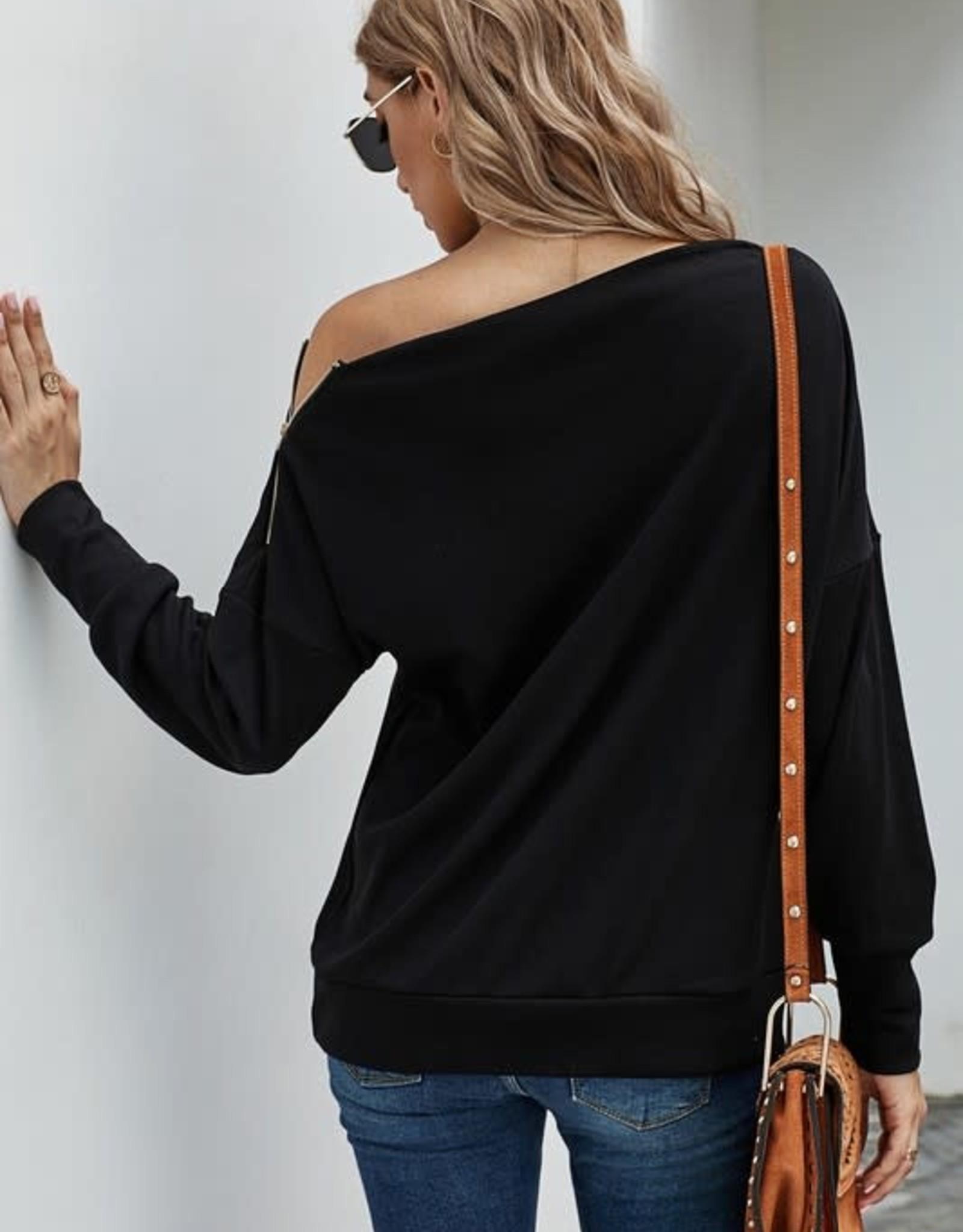 TLC YM253746  ribbed knit zip top