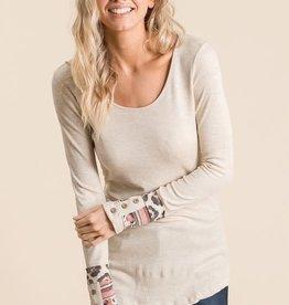 TLC long sleeve tshirt with cuff detail