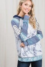 TLC LMT1885 marble double hoodie