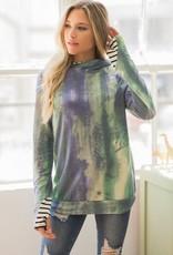 TLC LMT1853 watercolor double hoodie