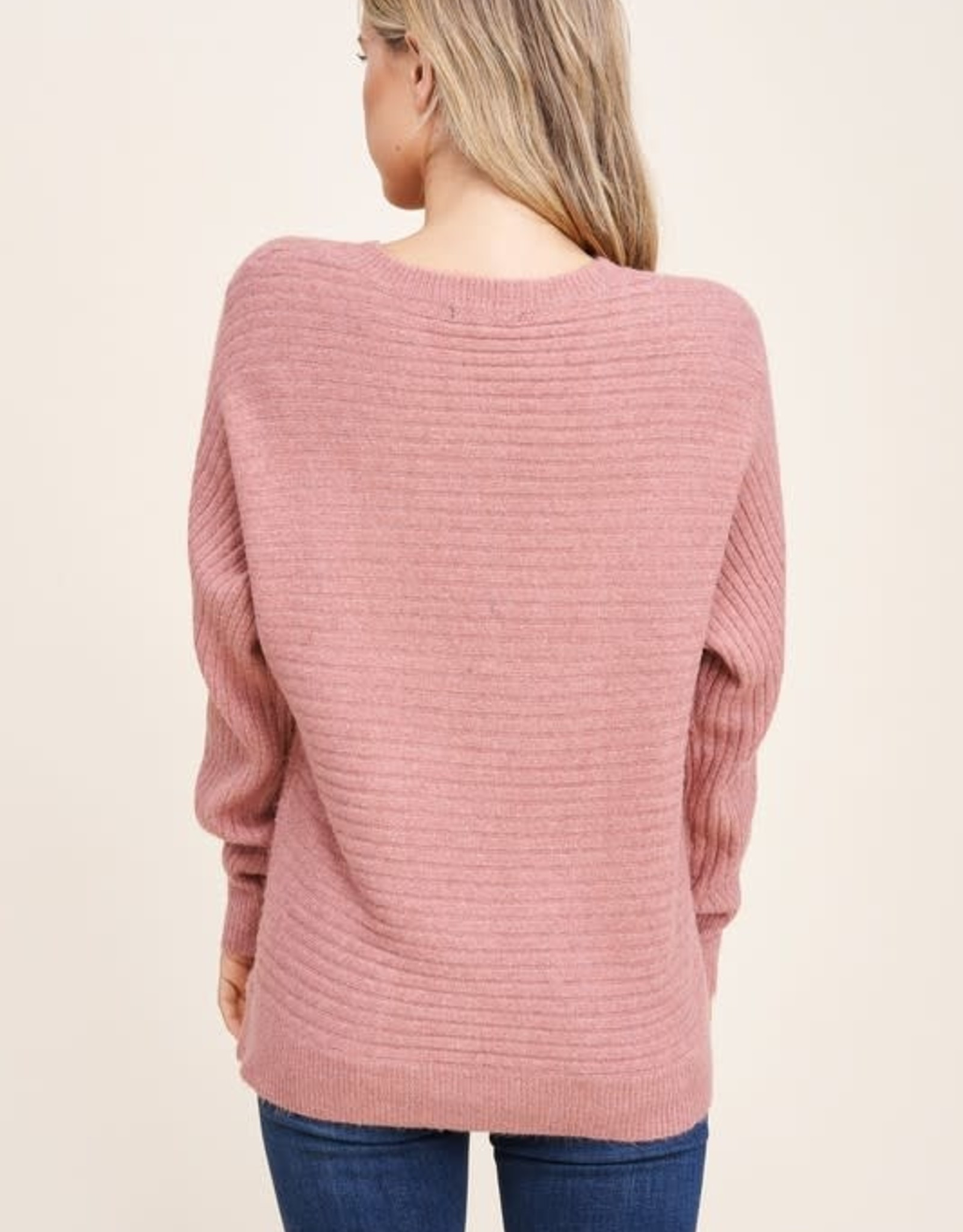 TLC 53122 crew neck ribbed sweater