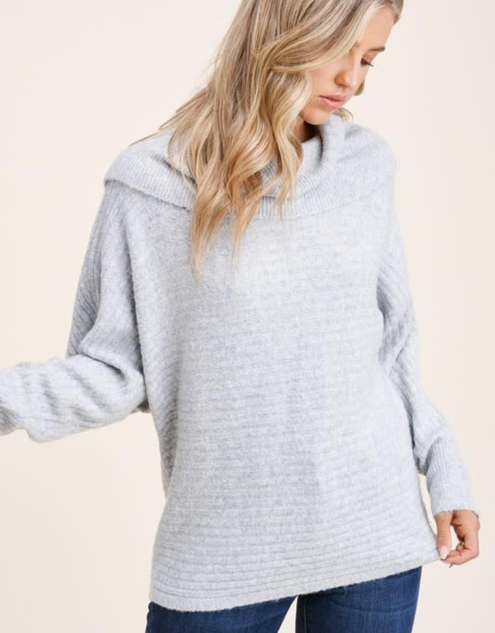 TLC 53123 slouchy dolman sleeve sweater