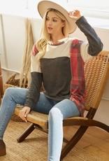 TLC lmt2640 colorblock pullover