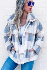 TLC AM10120 faux fur cozy plaid jacket