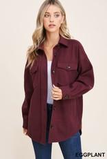 TLC 32105 button down oversize jacket