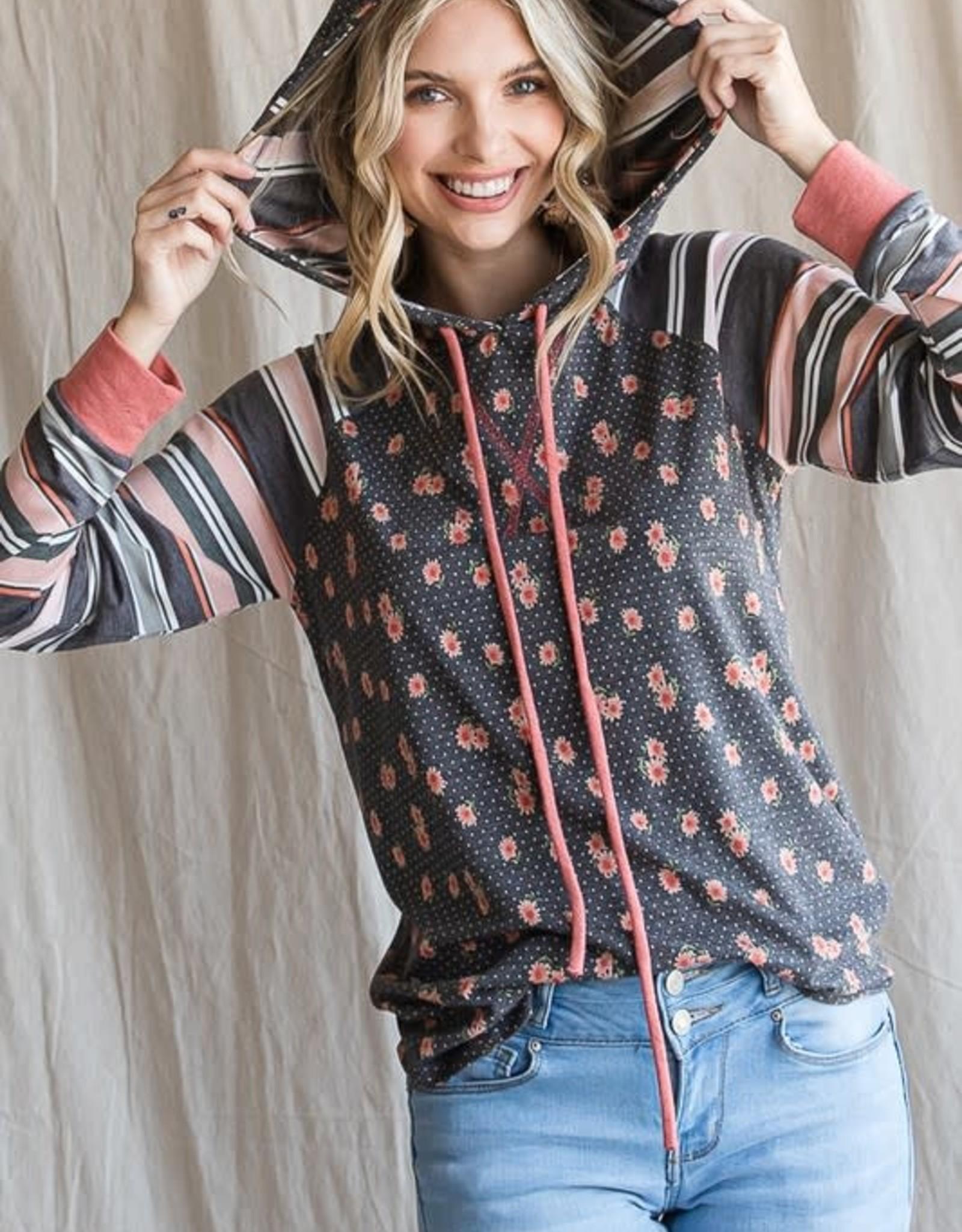 TLC T4314 floral hoodie