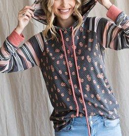 TLC Floral hoodie
