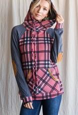 TLC t4358 plaid hoodie