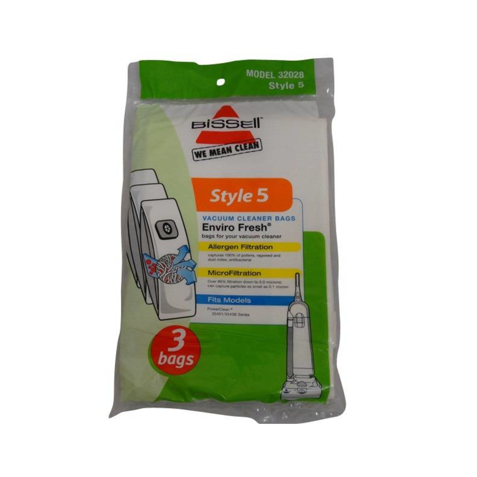 """Bissell Bissell Style """"5"""" EnviroFresh Bag (3pk)"""