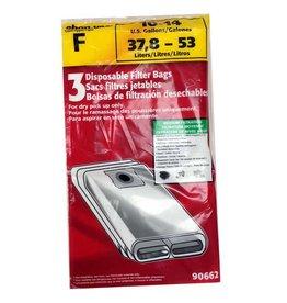 "Shop Vac Shop Vac Type ""F"" Bags - 10-14 Gallon (3pk)"