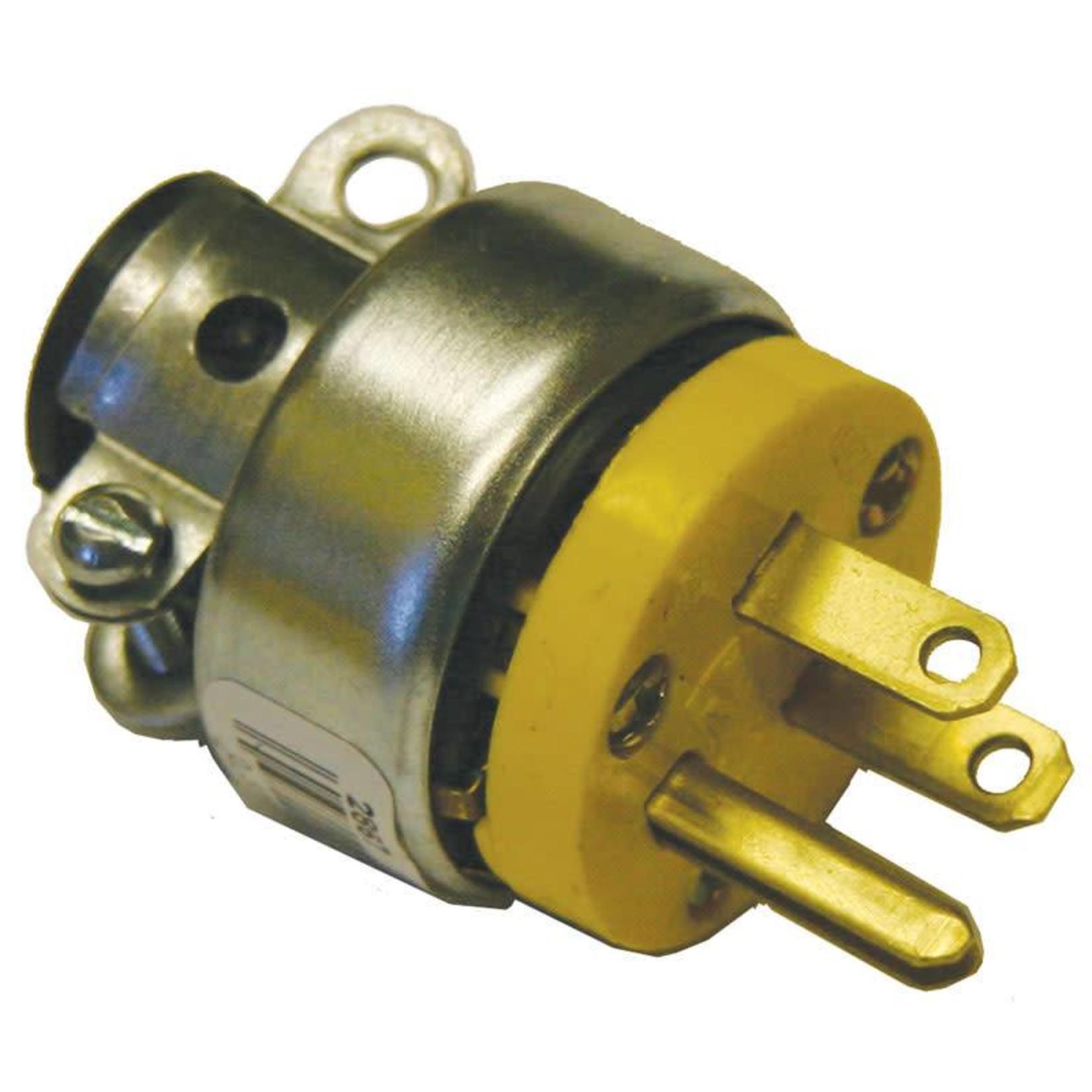 Generic CVS Round Plug, Metal Shielded - Male 3-Wire