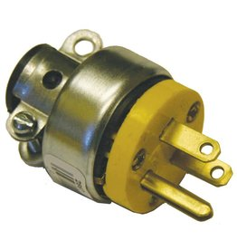 Generic 3 Wire Round Male Plug w/ Clamp - Metal Shielded