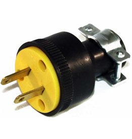 Generic 2 Wire Round Male Plug w/ Clamp - Rubber