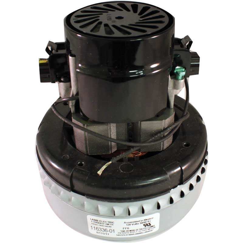 "Central Vacuum 120 Volt Motor, 5.7"" - 2 Stage - Peripheral Bypass"
