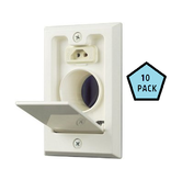 Hayden Hayden Almond Dual Volt Sq Door Valve, Box of 10