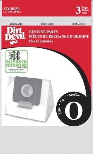 TTI Dirt Devil Type O Allergen Bag - 3pk