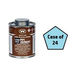 Whitlam (1/2 Pint) of Clear Regular PVC Cement - Glue Case of 24