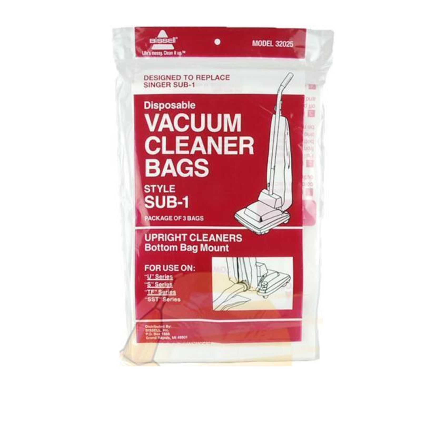Bissell Bissell Style Sub-1 Bags - 3pk