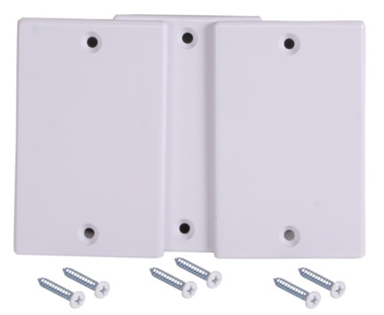 BEAM Central Vacuum Inlet Valve Cover Plate - White - 3pk