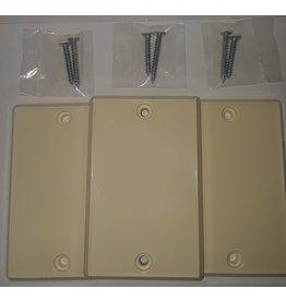 BEAM Central Vacuum Inlet Valve Cover Plate - Almond 3pk