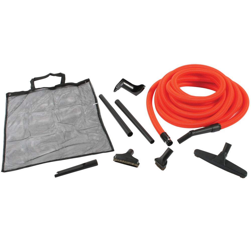 Centec Central Vacuum Premium Garage Kit  w/ 50 Foot Orange Hose